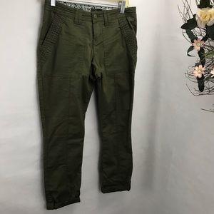 PrAna army cargo pants ankle length organic cotton